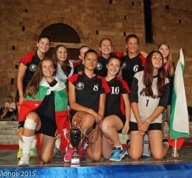 """14-годишните момичета на ХК """"Панагюрище"""" завоюваха 3-то място на Откритото световно първенство в Италия"""