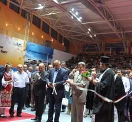 """Премиерът Борисов откри  """"Арена Асарел"""". Свръхмодерната зала се оказа тясна за всички, които желаеха да присъстват на събитието"""