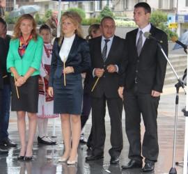 Официалното откриване на благоустроения централен площад в Панагюрище