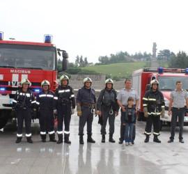 Атрактивната демонстрация на панагюрските огнеборци и интервю с гл. инсп. Симеон Симеонов
