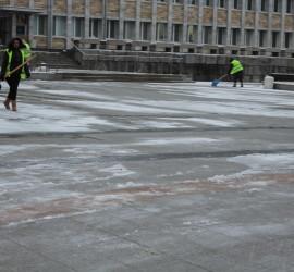 Незначителна снежна покривка в Панагюрище