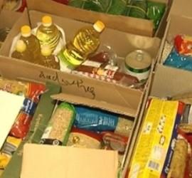 """Кампанията """"Хранителна банка"""" в помощ на лежащо болни хора, многодетни и социално слаби семейства"""