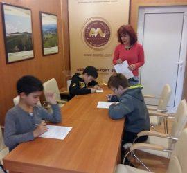 """Стила си на учене споделиха петокласници от ОУ """"Проф. Марин Дринов"""" по време на тренинг"""