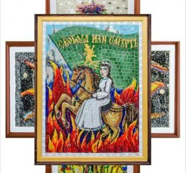 Изложба живопис-мозайка на Радка Маркова откриват днес в Исторически музей-Панагюрище