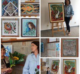 """Изложба живопис-мозайка """"Да помним миналото си, за да ни има в бъдещето"""" на Радка Маркова (Калпакова) беше открита в Исторически музей-Панагюрище"""