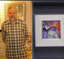 """Художникът Манол Панчовски участва със своя творба в изложба от Международното биенале """"Изкуството на миниатюрата"""" в Русе"""