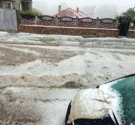Градушката и пороя на 24 май нанесоха  щети в Панагюрище