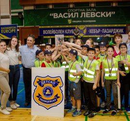 """Детското полицейско управление при  ОУ """"Проф. Марин Дринов"""" завоюва първо място в областното състезание"""