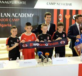 За първи път дете от България получава официална покана за проби от AC Milan