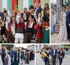"""Млади и красиви шестваха абитуриентите от СУ""""Нешо Бончев"""". Цял клас се появи с народни носии на абитуриентския бал"""
