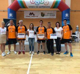 """Отборът на """"Асарел-Медет"""" стана втори в благотворителния турнир по тенис на маса """"Игри за добрини"""""""
