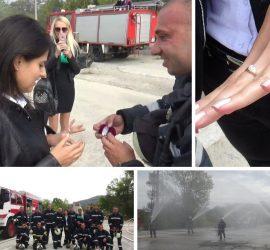 Пожарникарят Георги Нончев предложи на любимата си Мима Минкова през огън и вода, под овации и вой на сирени