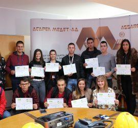 """11 ученици от Професионалната гимназия станаха  мениджъри за един ден в """"Асарел-Медет"""""""