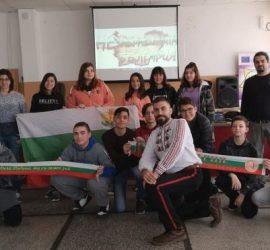 """Урок по родолюбие, посветен на Руско-турската освободителна война изнесе режисьорът Искрен Красимиров в ОУ""""Двайсти април"""""""