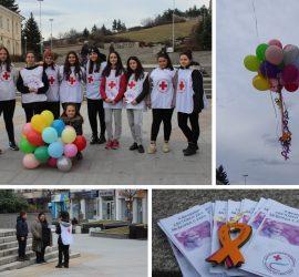 Доброволците от БМЧК отбелязаха Световния ден за борба с рака