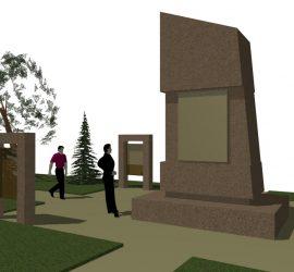Проектът за реновиране на паметника костница в с.Бъта е изготвен от арх.Бойко Столинчев и проф.Стефан Лютаков