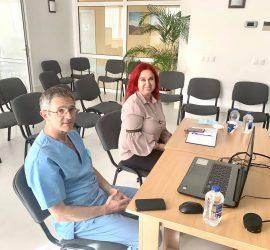 Участие във видеоконферентна среща със здравния министър, фокусирана върху донорските бази, взе и управителят на панагюрската болница