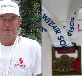 Панагюрският атлет ветеран Петър Петров участва за 34-ти пореден път в Маратона на София