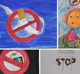 Ученици от  Панагюрище с онлайн изложба по повод Международния ден за борба с тютюнопушенето, инициирана от БЧК
