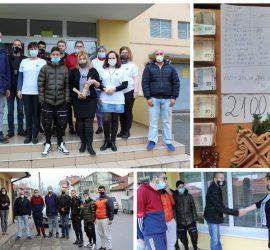 """Момчетата, скачали за кръста, дариха средствата на ЦНСТ"""" Закрила"""" и ДЦПЛУ """"Св. св. Козма и Дамян"""" гр. Панагюрище"""