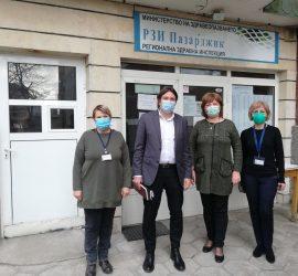 Заместник-министърът на здравеопазването Евгени Григоров провери ваксинационния процес в област Пазарджик