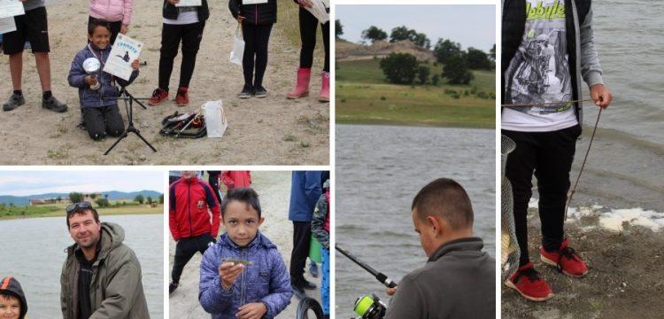 """Състезанието """"Детето риболовец може без дрога"""" на яз.Братаница /видео/"""