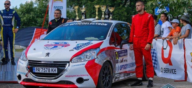 Екипажът Денис Станчовски и Явор Брънков първи в клас RC4 на рали Твърдица 2021