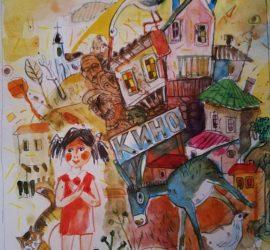 """Художникът Стайо Гарноев илюстрира новата книга на бургаската писателка Мина Кръстева """"Призрачните къщи"""""""
