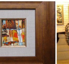 """Панагюрският художник Манол Панчовски участва със своя творба в Осмото международно биенале """"Изкуството на миниатюрата"""" в Русе"""